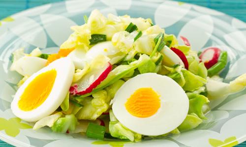 Салат из редиса и яиц