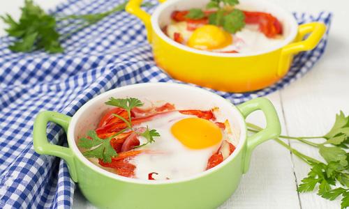 Запеченные яйца в духовке