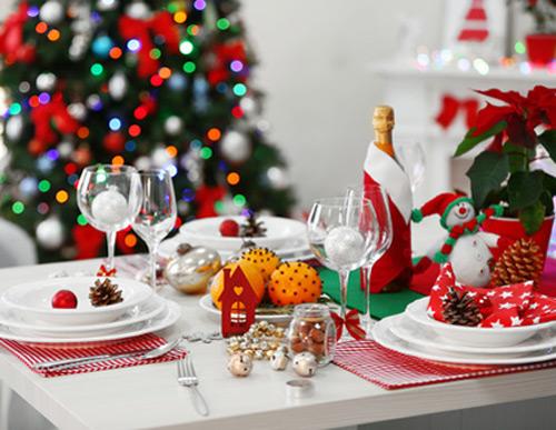 Сервировка для новогоднего стола