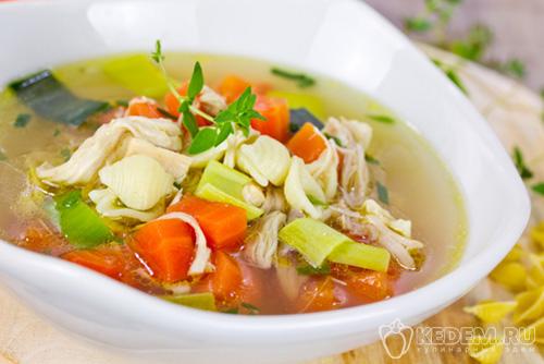 Супы на курином бульоне