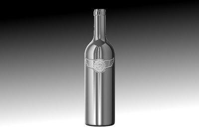 Калифорнийская винодельня выпустила первое в мире вино в хромированной бутылке
