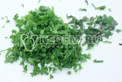 Добавить мелок нашинкованную зелень