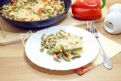 Рис с овощами и стручковой фасолью