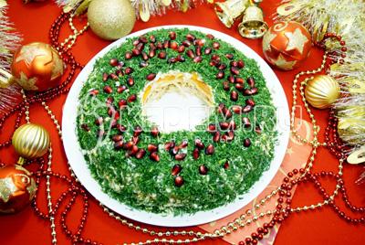 Салат «Рождественский венок»