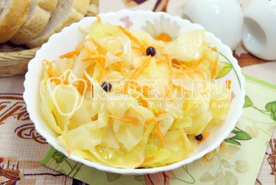 Вкусная маринованная капуста быстрого приготовления