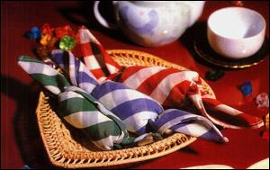 салфетки - конфетки - сервировка стола