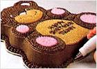 Украшение формовых тортов