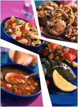 Вегетарианский вечер по-турецки - меню на неделю из турецких блюд, побалуйте себя восточными яствами, кулинарные рецепты приготовления блюд восточной кухни - белые бобы по-турецки, имам баялды, долма с булгуром (пшеничной крупой), салат из тушеных баклажанов и кабачков, овощной салат-гриль, суп с турецким горохом, окрой и помидорами, мандарины в вишневом соке, абрикосы по-турецки
