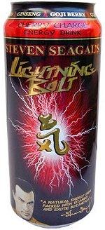 Стивен Сигал со своим знаменитым энергетическим напитком Steven Seagal's Lightning Bolt
