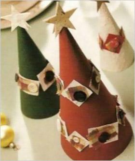Елочки из обычного цветного картона. Украшение новогоднего стола за два часа –  сервировка, оформление и украшение новогоднего стола быстро и красиво