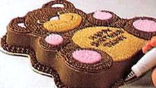 Украшение тортов - торт в форме медвежонка. Фото 6