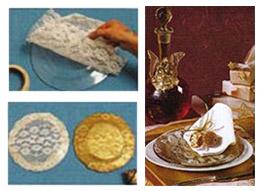 Сервировка Новогоднего стола – золотые тарелки