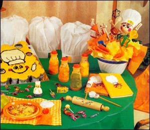Праздник маленьких поварят, сервировка стола, оформление стола детям