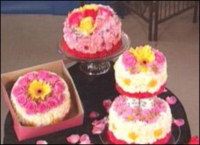 Цветочные торты