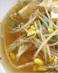 суп с пророщенными ростками сои
