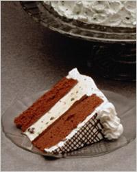 Кусочек слоеного торта