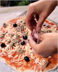 Приготовление пиццы с грибами пиццайоли