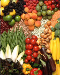 Фрукты, овощи, бобовые