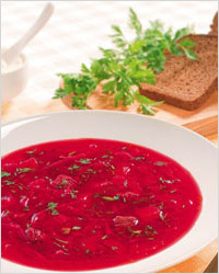 Борщ — традиционно блюдо в русской кухне