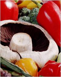 Шампиньоны в овощах