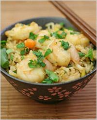 Блюдо китайской кухни –рис по китайски