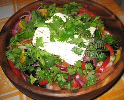 Греческий салат, фото приготовленного рецепта
