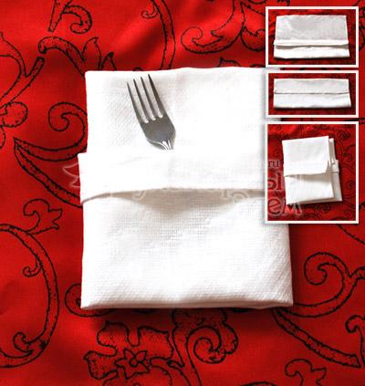 Способ складывания салфеток: конверт с каймой