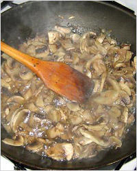 Жарение грибов