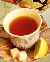 Чай с лимоном, русский чай