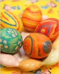 Готовимся к Пасхе: украшаем кулич, пасху, яйца.