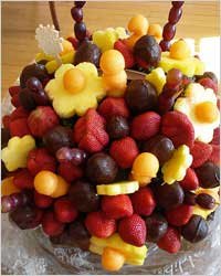 Украшение тортов: фрукты и фруктовое желе