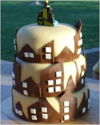 Торт город из марципана