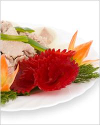 салат в виде шикарной розы