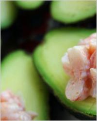 салат «Лодочки» с авокадо