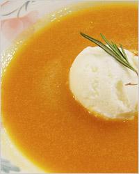 абрикосовый суп с мороженым