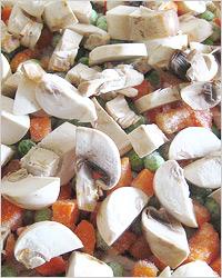 Овощи с шампиньонами для жарки