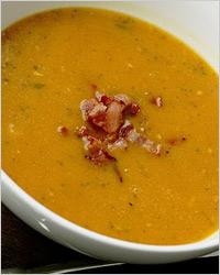 фасолевый суп-пюре с беконом