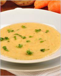 американский суп-пюре с кукурузой и сыром