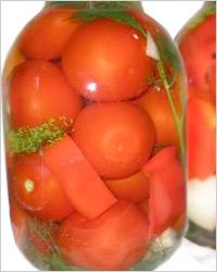 Сладкий перец с помидорами в кисло-сладкой заливке
