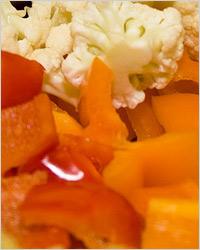 Сладкий перец с цветной капустой