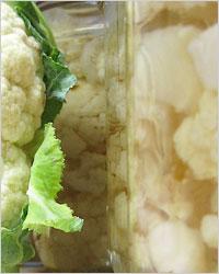 Маринованная цветная капуста (в трёх вариантах заливки)