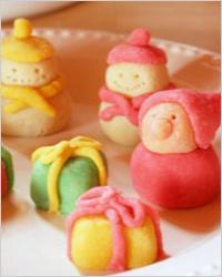 Ёлочные игрушки из марципана