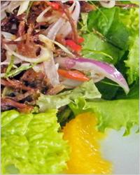 теплый салат с уткой