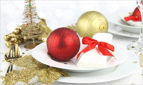 Сервировка новогоднего стола 2012