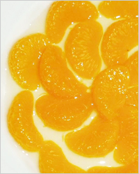 десерт из мандаринов с корицей