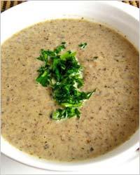 Суп-крем из шампиньонов с рисовой мукой
