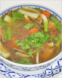 Суп-лапша с сухими грибами