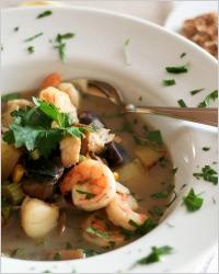 Марокканский суп из морепродуктов
