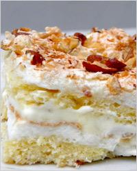 Бисквитный торт с безе «Ромашка»