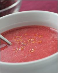 Клубничный суп-крем